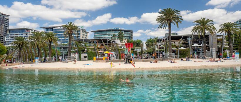 Southbank Beach is Brisbane's man-made beach and favourite recreation spot