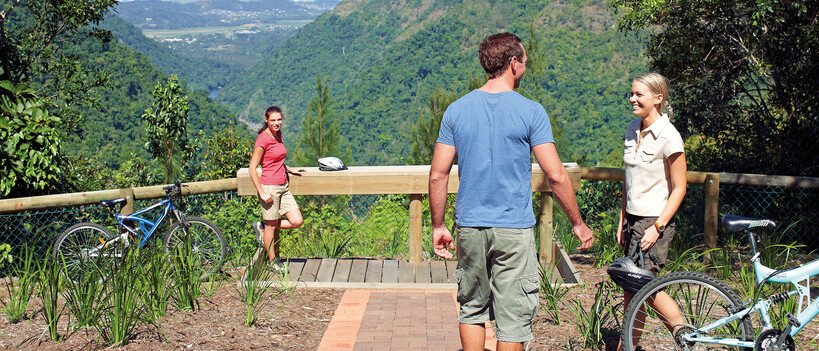 A couple at Wrights Lookout in Cairns