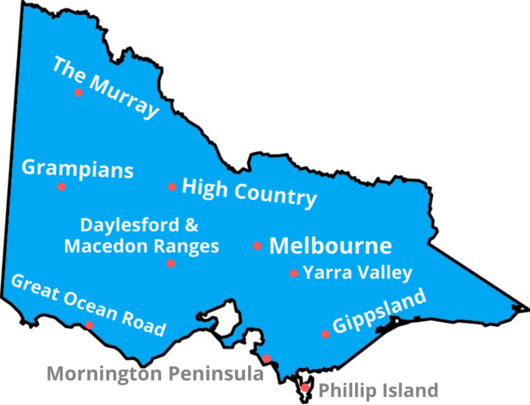 a map of Victoria