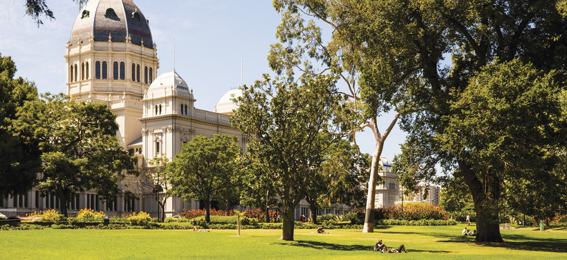 one of the many beautiful parks and gardens around Melbourne