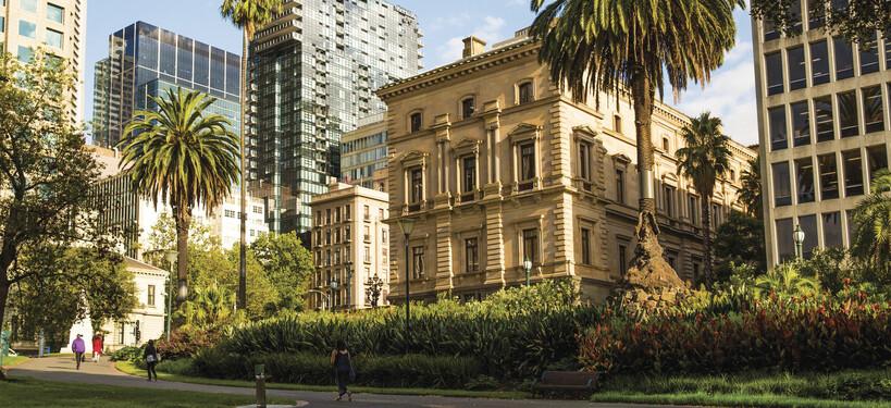 Melbourne's gorgeous Treasury Gardens