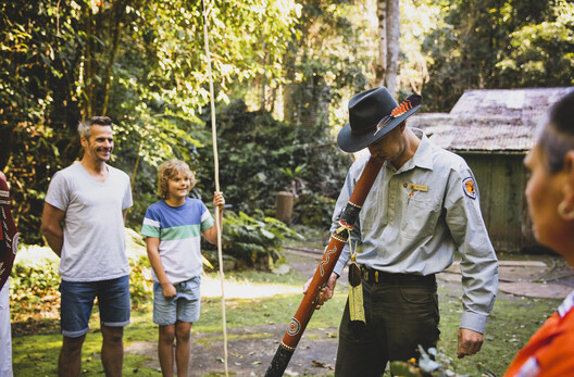 A ranger taking people through Copeland Tops State Conservation area in Barrington Tops