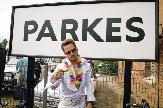 An Elvis look alike at the annual Parkes Elvis Festival in Parkes.
