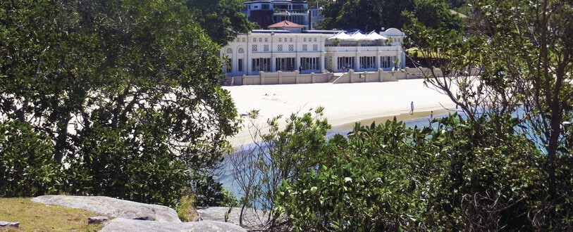 Balmoral Beach with Balmoral Bathers in the background