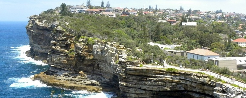 an aerial view of Watsons Bay in Sydney