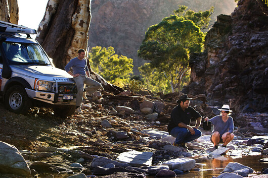 people enjoying an off-road tour in South Australia's outback