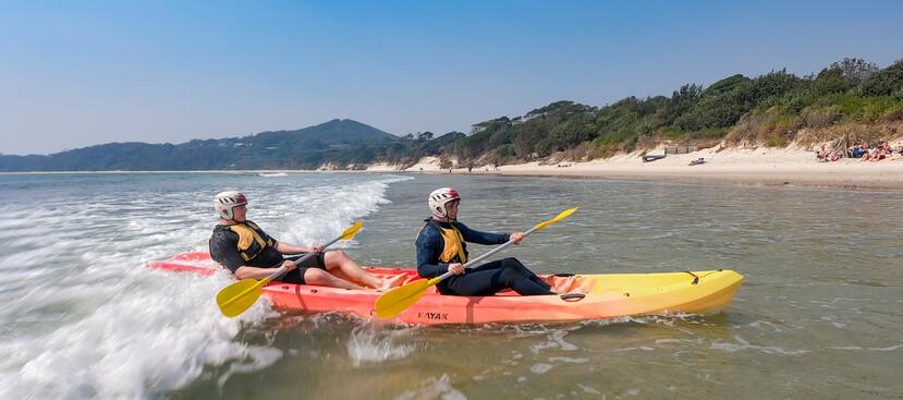 people surf kayaking on the south coast