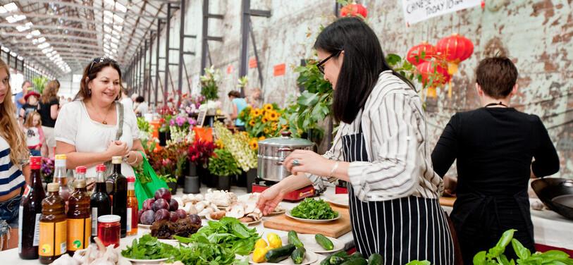 Shop at Eveleigh Markets inRedfern for delicious farm-fresh produce