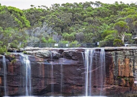 The Wattamolla Falls at the Royal National Park