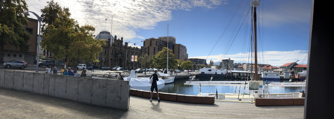 Hobart Harbour which is right in the city
