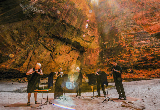 An orchestra playing in the Bungle Bungles