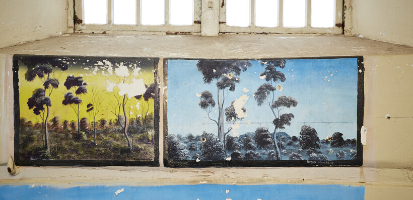 theartwork adorning the walls at Fremantle Prison that was painted by convicts in the day