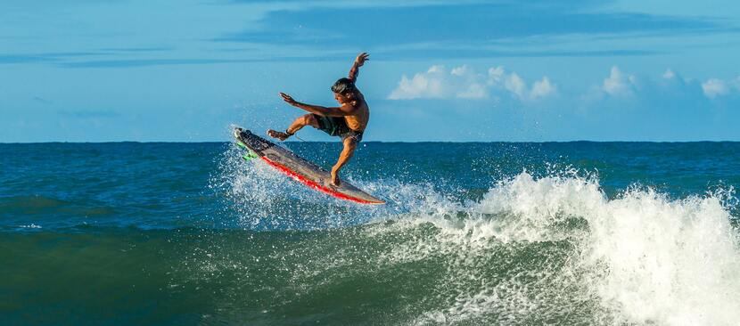 a man surfing at the beach on the NSW Northern Rivers
